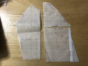 型紙アレンジ、型紙用不織布に転記したところ